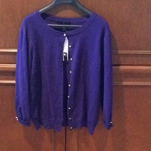 Grace Elements sweater with crystal buttons
